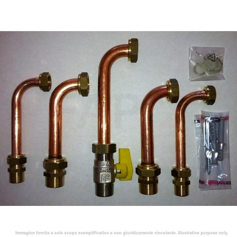 BAXI 7106980 Kit raccordi telescopici con rubinetto gas e acqua sanitaria